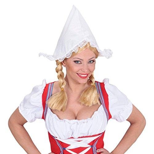 NET TOYS Frau Antje Haube Hollandhaube weiß Holland Hut Mütze Holländerin Häubchen Niederländerin Mütze Kostüm Zubehör