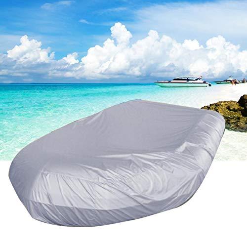 Massage-AED Funda para Barco Impermeable,Cubierta De Barco Resistente Al Polvo UV Resistente Al Sol Anti Hielo Nieve Impermeable Bote Inflable Bote De Goma para Pesca Kayak
