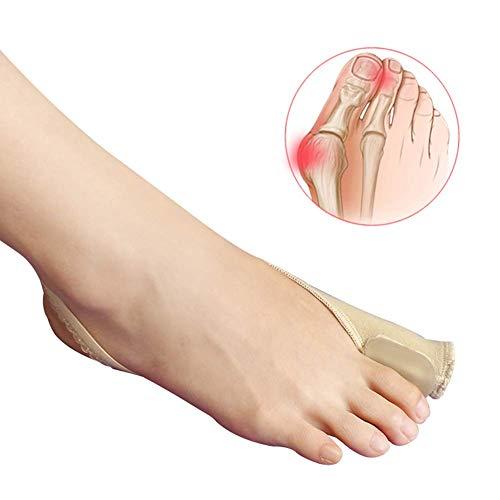 SLRMKK Separadores y alisadores del Dedo del pie, Silicona Pulgar Valgus Ortesis Separador del Dedo del pie Cinturón elástico Reforzado Puede Usar Zapatos Beige 1 par S 【34-37】