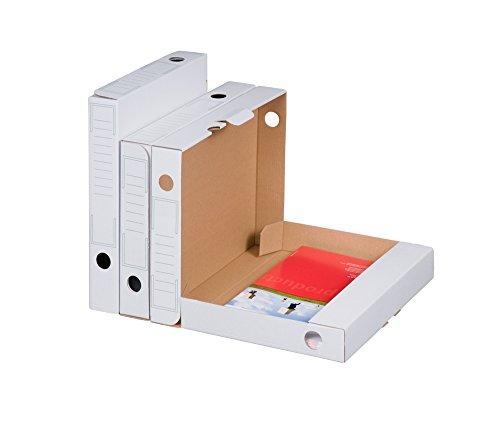 Smartbox Pro Archiv-Ablagebox Bianco, 30er Pack, weiß