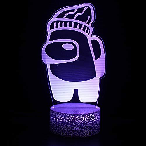 3D Optische Illusions-Lampen, 16 Farbwechsel Decor Lamp -Perfect Gifts Geschenke für Kinder ab 3 4 5 6+ Jahre (A)
