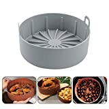 Air Fryer Silicone Pot, Replacement for Paper Liners, Mat Kitchen Air Fryer Silicone Pot Microwave Grill Pan Baking...