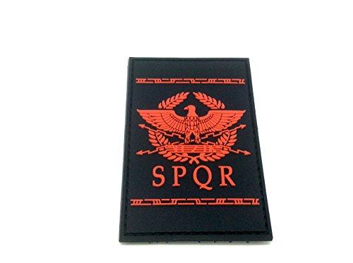 Patch Nation SPQR Antike Römische Republik PVC Airsoft Paintball Klett Emblem Abzeichen (Rot)