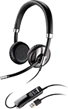 Plantronics Blackwire C720 Binaural USB Headset With Bluetooth For Softphone, PC, Laptop, Mac or Mobile Phone (Renewed)