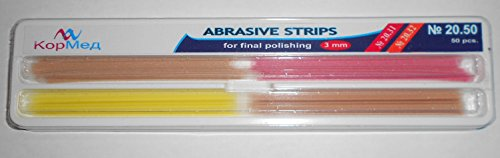 Dental Abrasive Strips for Contouring (gross reduction/contouring/finishing) 50 pcs (Cormed) (3 mm wide)