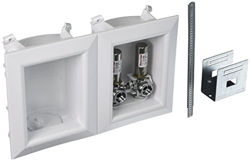 Sioux Chief 696-2313XF Washing Machine Outlet Ox Box- With 1/2 Inch Pex Crimp Connections-With Hammer Arrestors