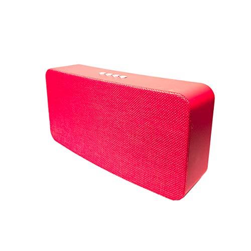 Altavoz portátil de 10W con tecnología Bluetooth BSL-B19 (Rojo)  Resistente a Polvo y Salpicaduras  Reproductor mp3   Puerto USB y SD   Toma Auxiliar