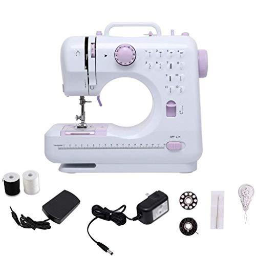 Mini máquina de coser portátil, Maquina de Coser Electrica, 12 Puntadas, 2...