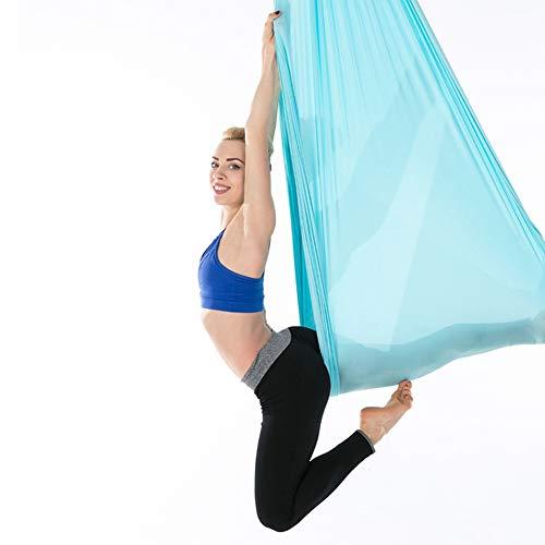 Tihebeyan 2,8 m Dauerhafte Elastische Luft Yoga Hängematte Yoga Schaukel/Sling/Inversion Tool Fitness Training Zubehör(Blau)