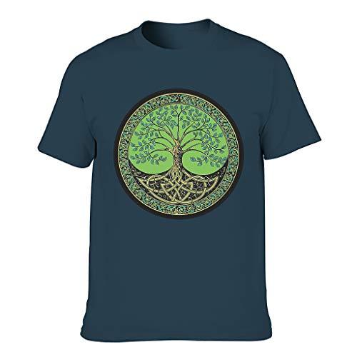 3D Kreativ Männer T-Shirts3D MusterTee Sommer Neuheit Logo Shirts Extra CoolT-Stücke Navy 3XL