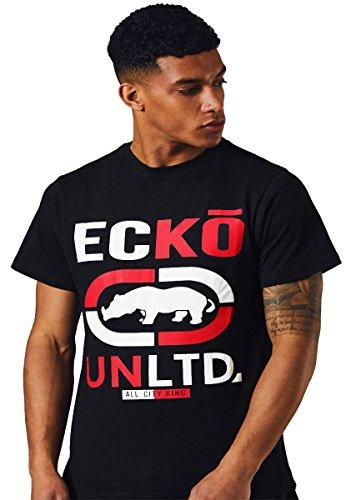 Ecko Hombres Unltd Camiseta Corto Manga Parte Superior tee Deporte Gráfico Verano Marcas SOMBRERAS,Antracita,S