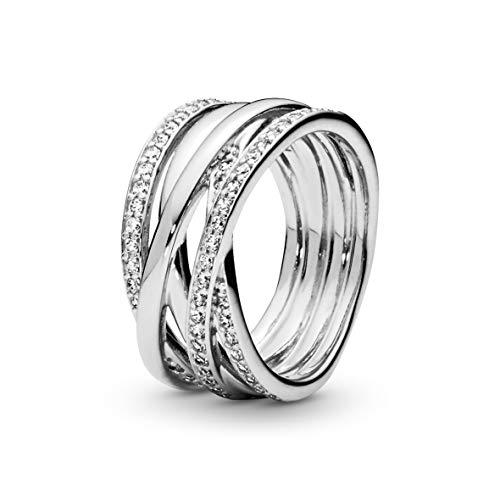 Pandora Damen-Ring 925 Silber Zirkonia weiß Gr. 56 (17.8) - 190919CZ-56