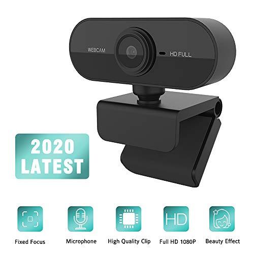 HD-Webcam 1280 x 1080p Streaming-Webkamera mit l Mikrofonen, Webcam für Spielekonferenzen und -Arbeiten, Laptop- oder Desktop-Webcam, USB-Computerkamera für Mac Xbox YouTube Skype OBS