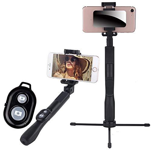 Xxw lamp Artifact Mini Lange Mobiele Telefoon Bluetooth Afstandsbediening Statief Universeel Multi-functie Foto Live Broadcast Beugel, Zwart