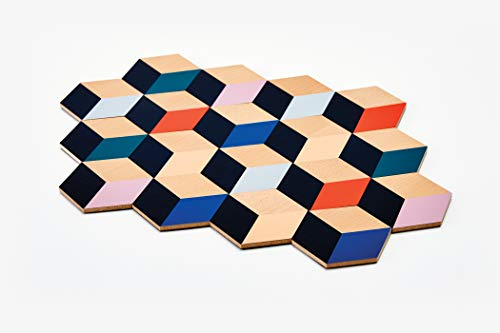 "Areaware Table Tiles (Modern Multi), 3.5"" x 3.25"" x 0.25"""