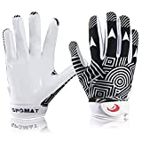 SPOMAT Youth Football Gloves Kids Silicone...