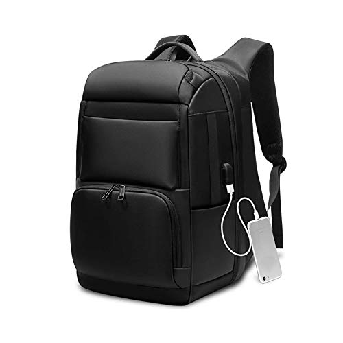 Bdesign Laptop Backpack,Travel Business Computer Rucksack with USB Charging Port Water-Repellent College School Daypack Work Bag for Men/Women- Black