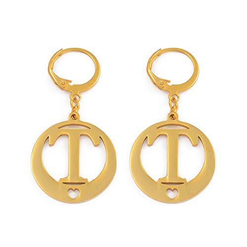 Gold Color Letters Earrings Initial For Women Girl Alphabet Earring English Letter Jewelry Gift