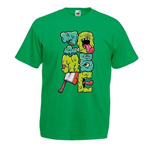 Camisetas Hombre Zombi Regalo del Friki Idea para un Regalo Inusual (Medium Verde Multicolor)