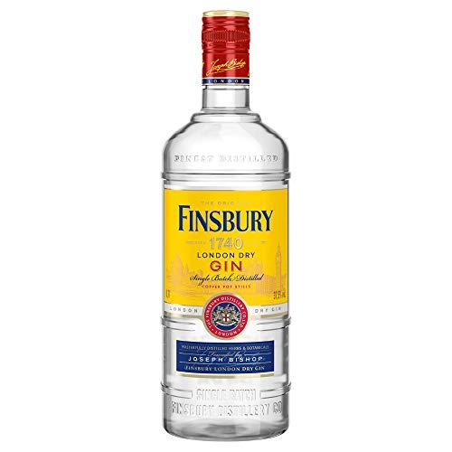 Finsbury London Dry Gin mit 37,5% vol. Der Klassiker aus London seit 1740, Wacholder und Zitrusnote, Perfekt für Gin & Tonic - 1 x 1,0l