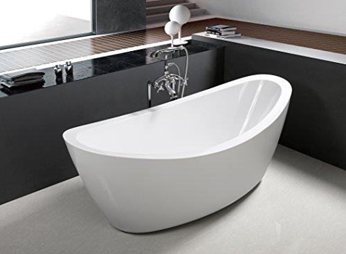 71' Freestanding Luxury Bathtub White Acrylic