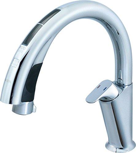 INAX ナビッシュハンズフリー キッチン用タッチレス水栓(浄水器ビルトイン型) JF-NA411SN(JW)