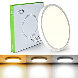 ZZCAT Flush Mount Light Fixture, 3 Color Temperatures in One(3000k/4000k/6500k),12 inch 20W Surface Mount LED Ceiling Light Fixture for Bedroom Kitchen