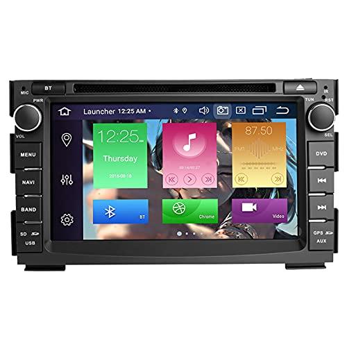 BOOYES per Kia Ceed 2010-2012 Venga 2010-2016 Android 10.0 Octa Core 4 GB RAM 64 GB Rom 7'Lettore Dvd per Auto Radio Stereo GPS Sistema Supporto Car Auto Play/TPMS/OBD / 4G WiFi/Dab