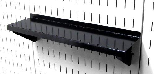 Wall Control Pegboard Shelf 4in Deep Pegboard Shelf Assembly for Wall Control Pegboard and Slotted Tool Board – Black