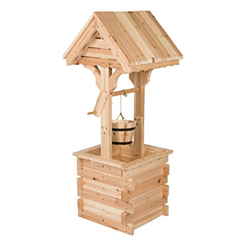 Shine Company Inc. 4986N Decorative Wishing Well, 48' High, Natural
