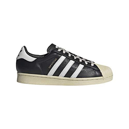 Adidas mens adidas Originals Men's Superstar Sneaker, CBLACK/CRYWHT/BLUE, 11 US