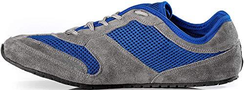 Magical Shoes Explorer Barfußschuhe | Damen | Herren | Jugendliche | Laufschuhe | Zero Drop | Flexibel | Rutschfest, Größen:42/270mm, Farbe:MS Explorer Deep Water - Blau/Grau