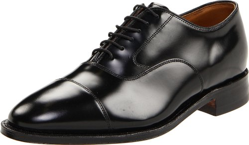 Johnston & Murphy Men's Melton Cap Toe Shoe Black Calfskin 10.5 D US