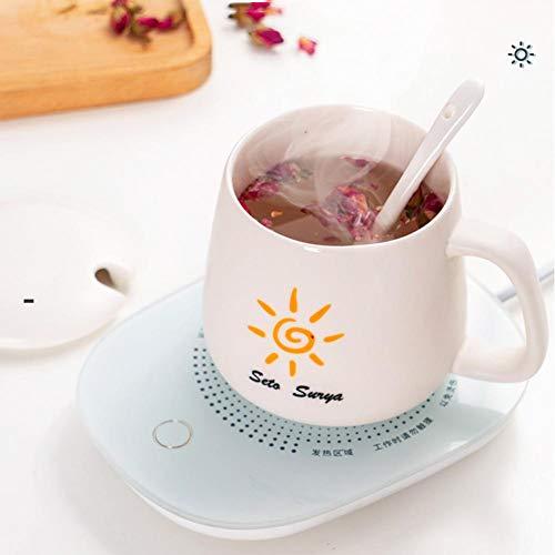 Koffiewarmer, automatische uitschakeling, drankenwarmer, kopwarmer, voor bureau-koffiewarmer, constante temperatuur van 55 °C, veilig voor op kantoor voor het verwarmen van koffie, thee en