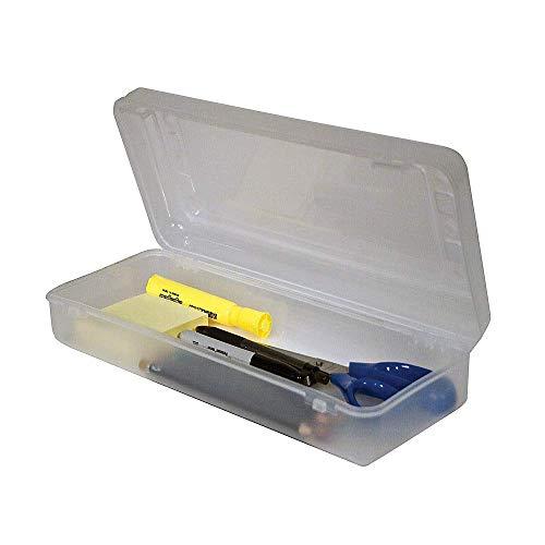 Innovative Storage Designs Pencil/Ruler Box, 5 5/8' x 13 3/8' x 2 1/2', Clear