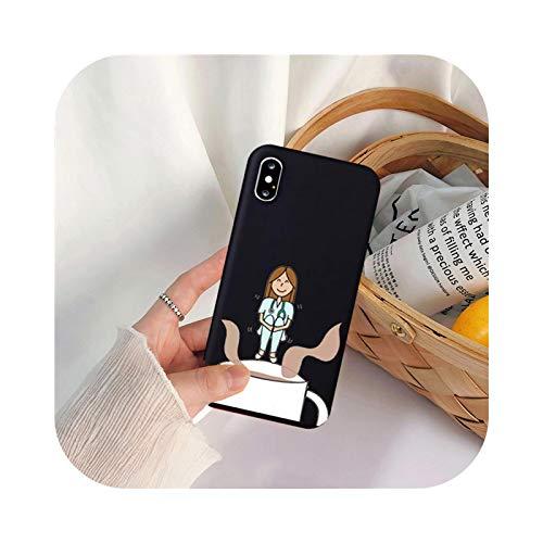 Caricatura Medicina Doctor Enfermera Teléfono Carcasas Para Iphone 11 Pro XS MAX XR X 7 6 12 8 Plus Caramelo Suave Silicona Contraportada Fundas-Estilo 5-Para iPhone 11