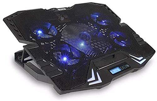 Verstelbare Laptop Cooler pad Laptop Cooling 5 stille ventilatoren Sterke Wind Speed Cooler voor 12-17 inch laptops en notebooks