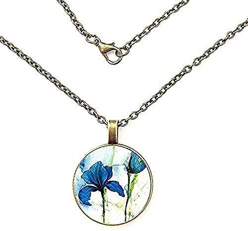 NC188 Collar de Recuerdo Collar Pérdida del niño por nacer Joyas Collar con Colgante de cúpula de Cristal