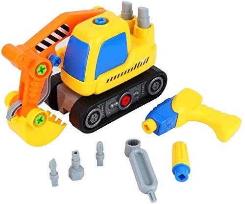 yvyuan Tuercas eléctricas de Tuercas Desmonte el Modelo de automóvil de ingeniería, 3D PLÁSTICO Y ELECTRÓNICO PUESTRO PUESTRO DE PUESTRO DE COCH DE Coches para NIÑOS ANDLERS