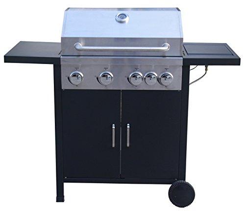luxurygarden - Barbecue à gaz avec 4 brûleurs et réchaud latéral Risto