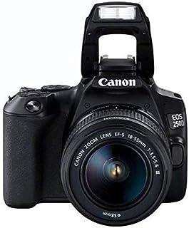 كاميرا اي او اس رقمية من كانون، لون اسود - 250D 18-55