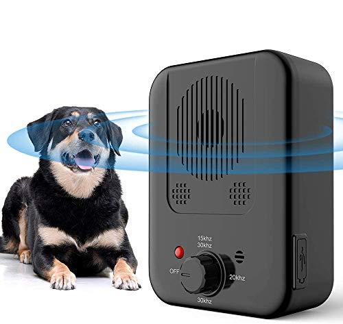 Anti-Barking-Gerät, Anti-Barking-Gerät mit harmlosem, wiederaufladbarem und wasserdichtem Gerät, erkennt das Bellen von Hunden bis zu 30 Fuß, Bark Control Device mit 4-stufigem Betrieb
