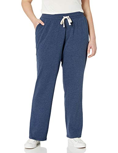Amazon Essentials Plus Size French Terry Fleece Sweatpant Athletic-Pants, Navy Heather, 2X