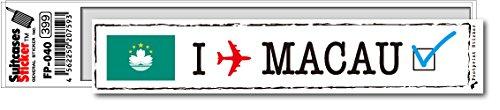 FP-040 フットプリント ステッカー/マカオ(MACAU) スーツケースステッカー 機材ケースにも! (白)
