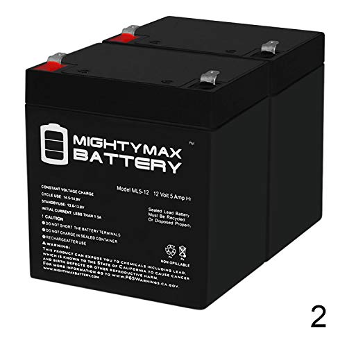 Mighty Max Battery 12V 5Ah Scooter Battery Replace 4.5Ah Enduring 6FM4.5, 6 FM 4.5-2 Pack Brand Product