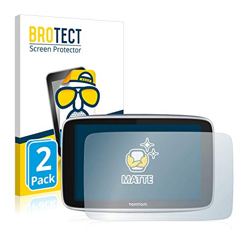 BROTECT 2X Entspiegelungs-Schutzfolie kompatibel mit Tomtom GO Premium (6