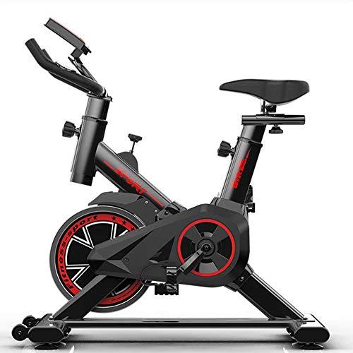 Bicicleta de ejercicio estacionario Bicicleta de hilado de resistencia infinita de ciclismo interior Máquina de gimnasio Equipos de aptitud para el entrenamiento en el hogar, volante bidireccional