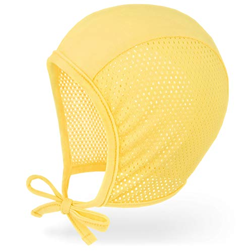 JELLYTREE Baby Hat Bonnet Breathable Mesh Pilot Cap Hearing Aid Hats Infant Toddler Boys Girls Beanies, 3m 6m 12m