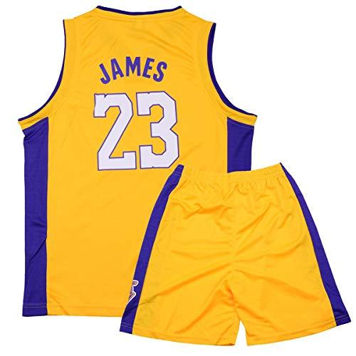 Rying Lebron James #23 Camiseta de Baloncesto para Hombres - NBA Lakers, para niños Adultos y Adolescentes Top sin Mangas + Shorts