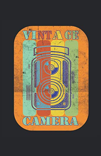 Camera Kamera Fotografie Photography: Notizbuch   Notebook   Kariert, DIN A5 (13.97x21.59 cm), 120 Seiten, creme-farbenes Papier, mattes Cover